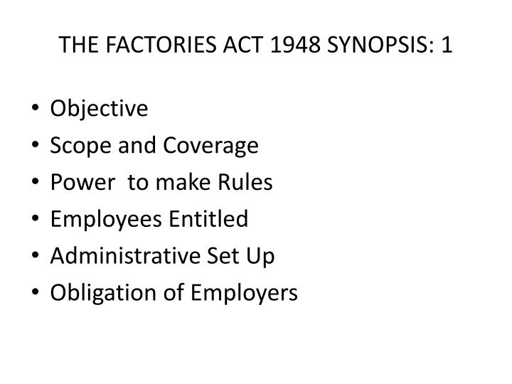 current status of factory law 1948 Liability of employer under employee state insurance act, 1948 liability of employer under employee state insurance act, 1948.