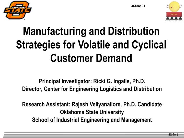 Manufacturing and distribution strategies for volatile and cyclical customer demand