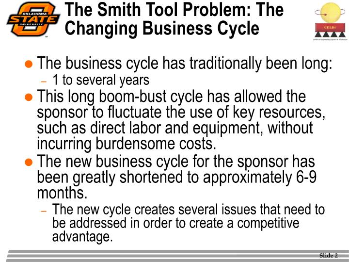 The smith tool problem the changing business cycle