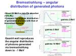 bremsstrahlung angular distribution of generated photons