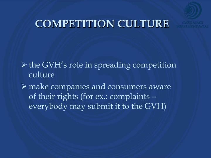 COMPETITION CULTURE