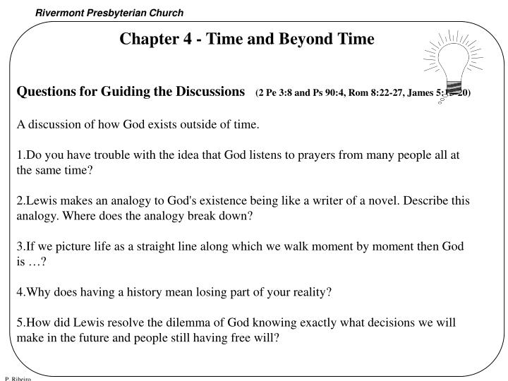 Chapter 4 - Time and Beyond Time