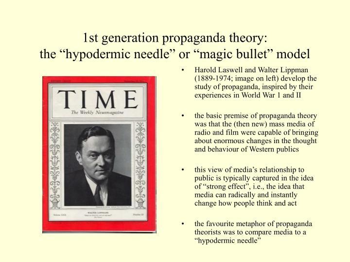 1st generation propaganda theory:
