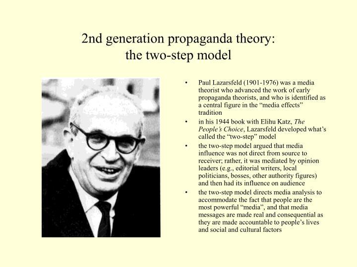 2nd generation propaganda theory: