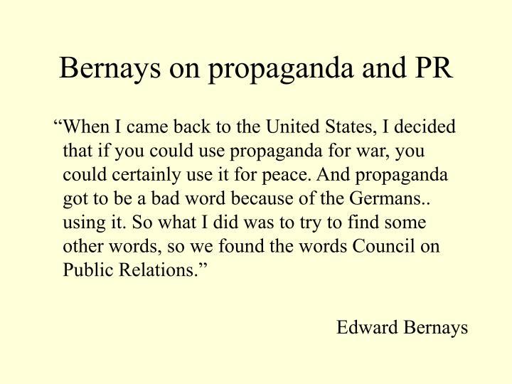 Bernays on propaganda and PR