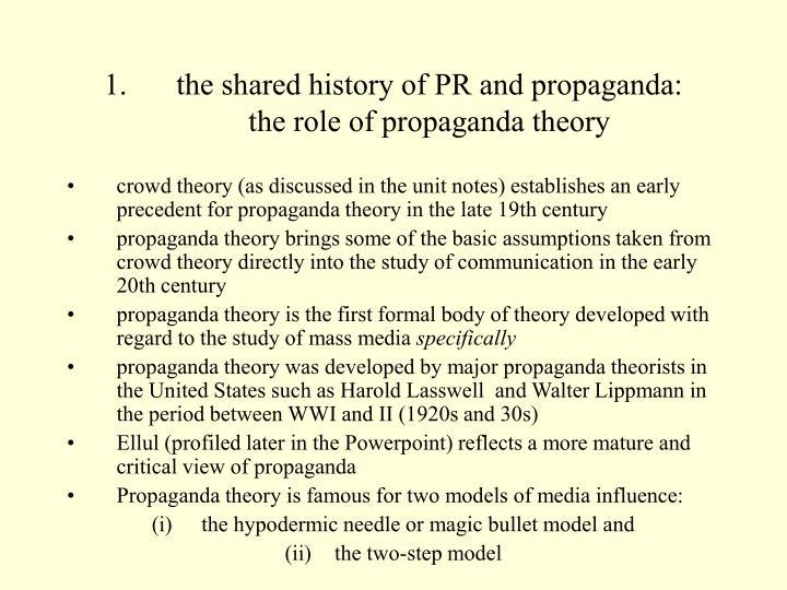 the shared history of PR and propaganda:
