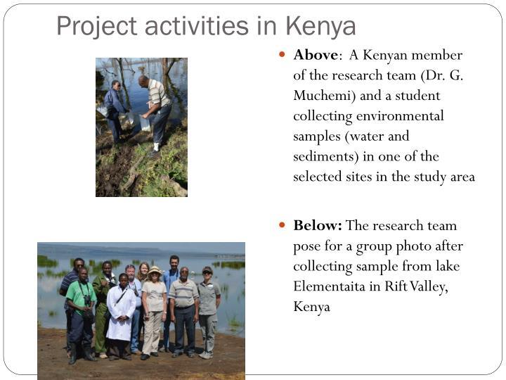 Project activities in Kenya