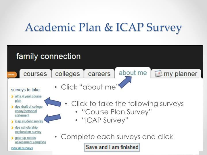 Academic Plan & ICAP Survey