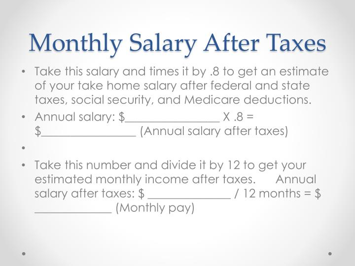 Monthly Salary After Taxes