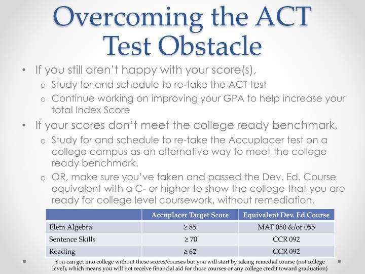 Overcoming the ACT