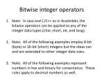 bitwise integer operators1