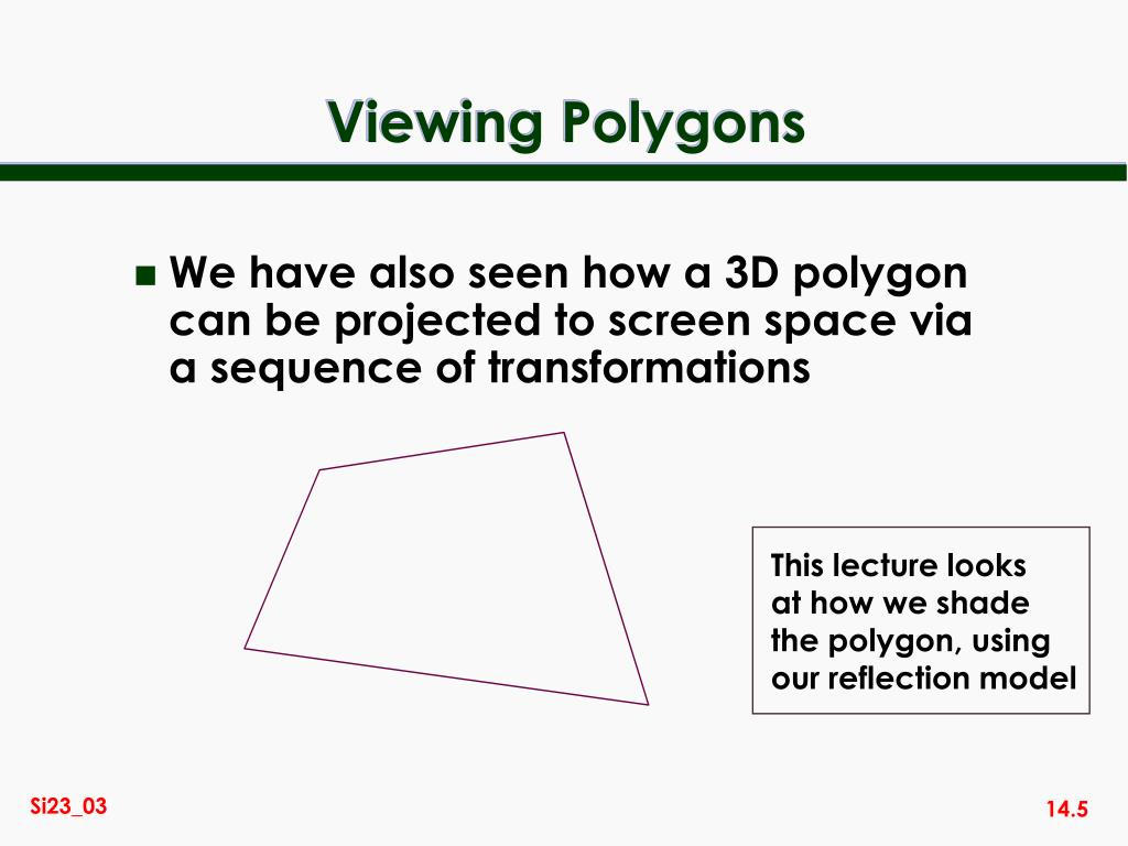 PPT - SI23 Introduction to Computer Graphics PowerPoint Presentation