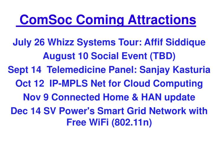 July 26 Whizz Systems Tour: Affif Siddique