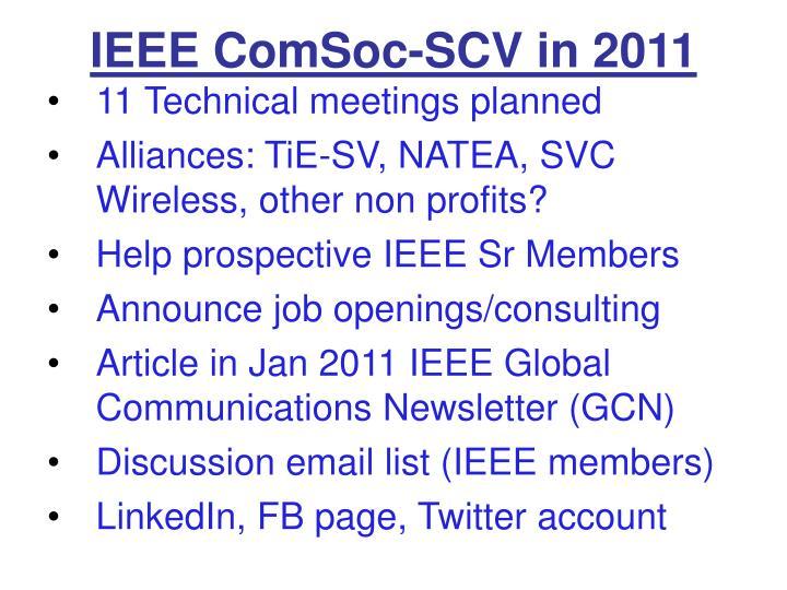 IEEE ComSoc-SCV in 2011