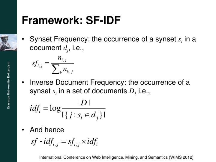Framework: SF-IDF