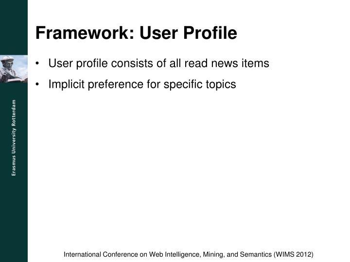 Framework: User Profile