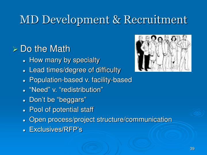 MD Development & Recruitment