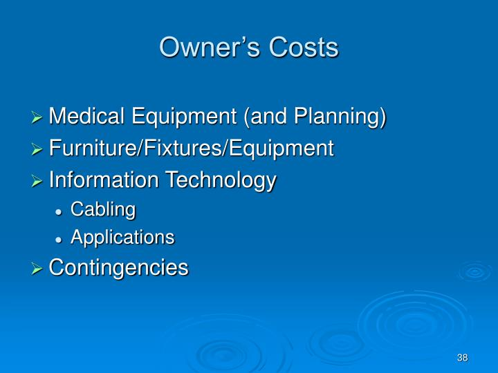 Owner's Costs