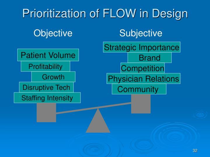 Prioritization of FLOW in Design