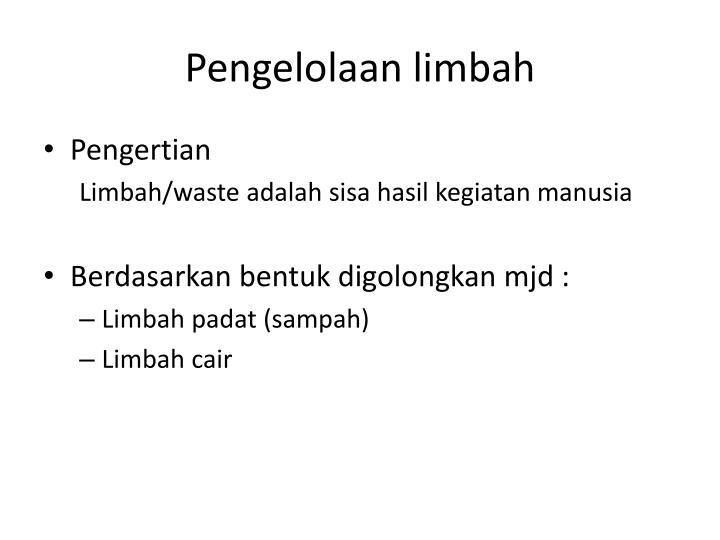 Pengelolaan limbah1