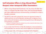 self schedule offers in day ahead must respect inter temporal offer parameters