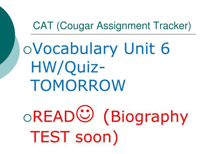 CAT (Cougar Assignment Tracker)
