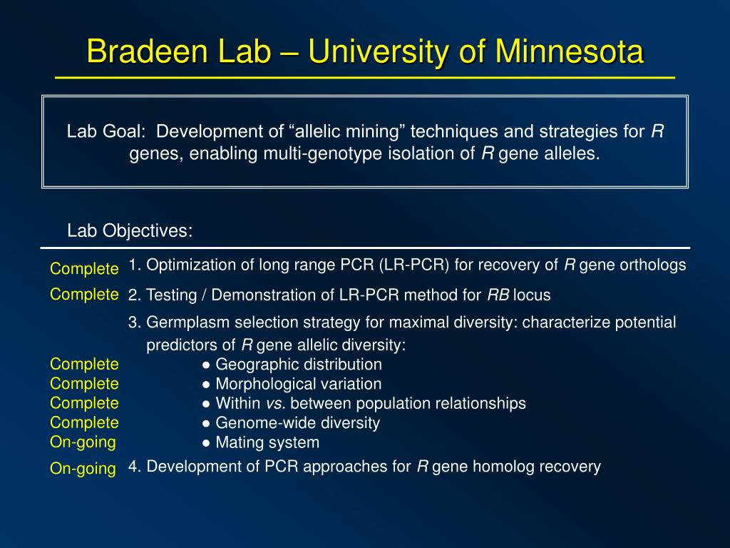 PPT - Bradeen Lab – University of Minnesota PowerPoint