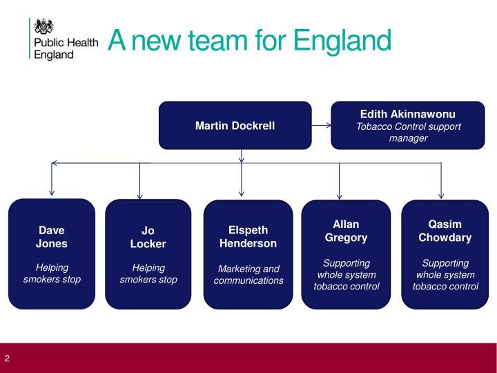 A new team for england