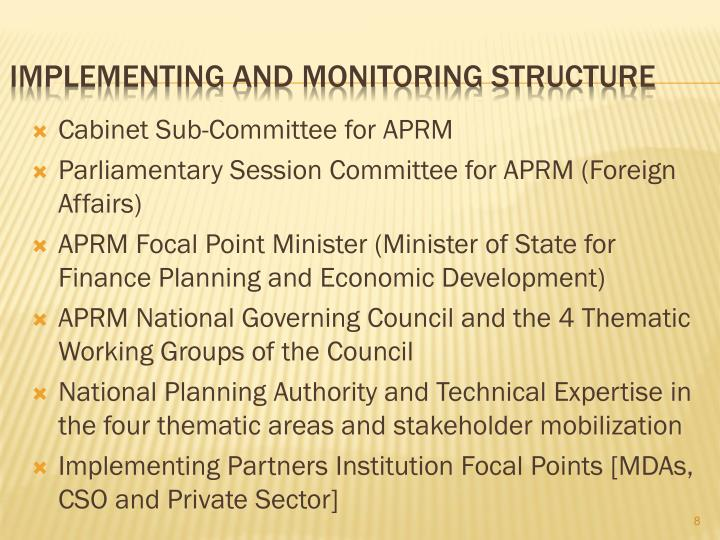 Cabinet Sub-Committee for APRM