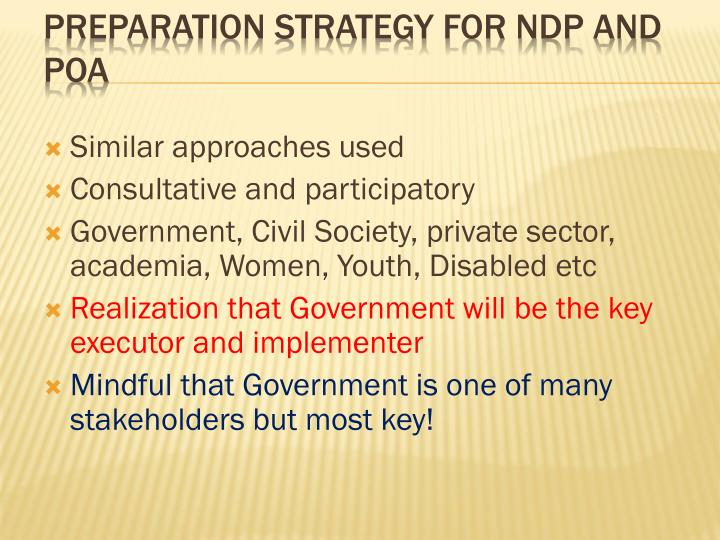 Preparation Strategy for NDP and POA