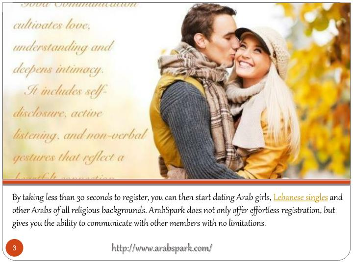 By taking less than 30 seconds to register, you can then start dating Arab girls,