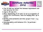 certificate authorities ca s