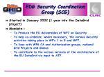 edg security coordination group scg