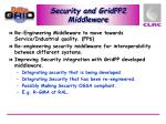 security and gridpp2 middleware