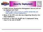security deployment