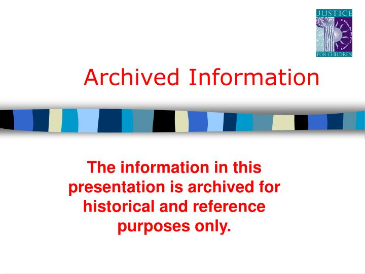 archived information n.