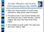 juvenile offenders and victims 1999 national report by ojjdp