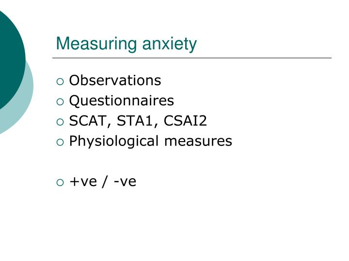 Measuring anxiety