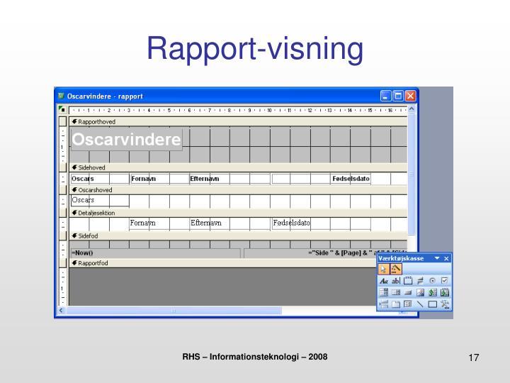 Rapport-visning