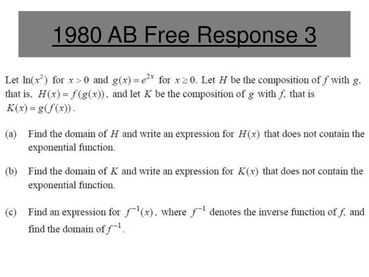 1980 ab free response 3