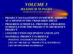 volume 3 maximum 50 pages no prices cost in this volume