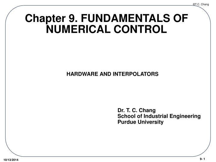 chapter 9 fundamentals of numerical control n.