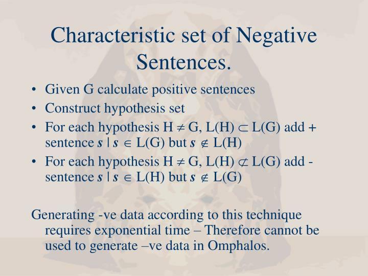 Characteristic set of Negative Sentences.