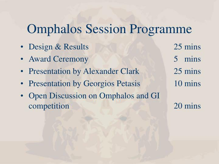 Omphalos session programme