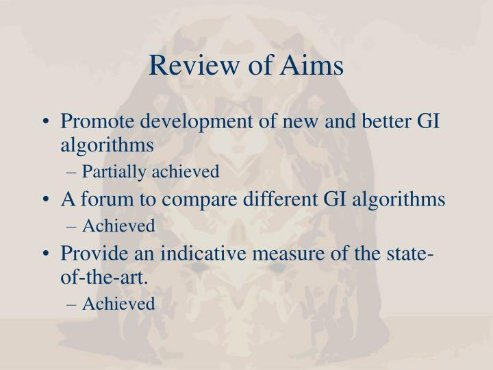 Review of Aims