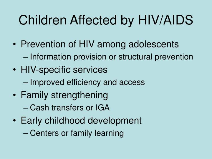Children Affected by HIV/AIDS