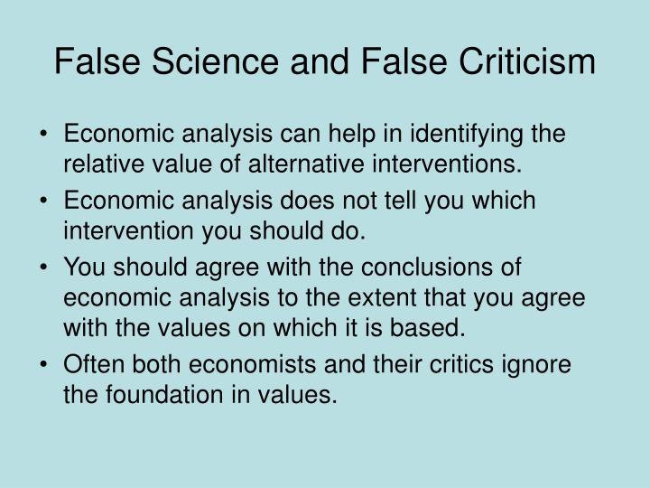 False science and false criticism