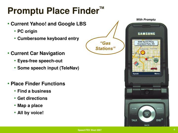 Promptu Place Finder