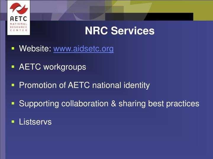 NRC Services