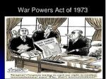 war powers act of 1973